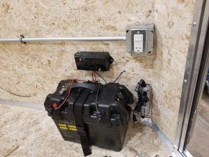 Custom Power supply Ice house trailer